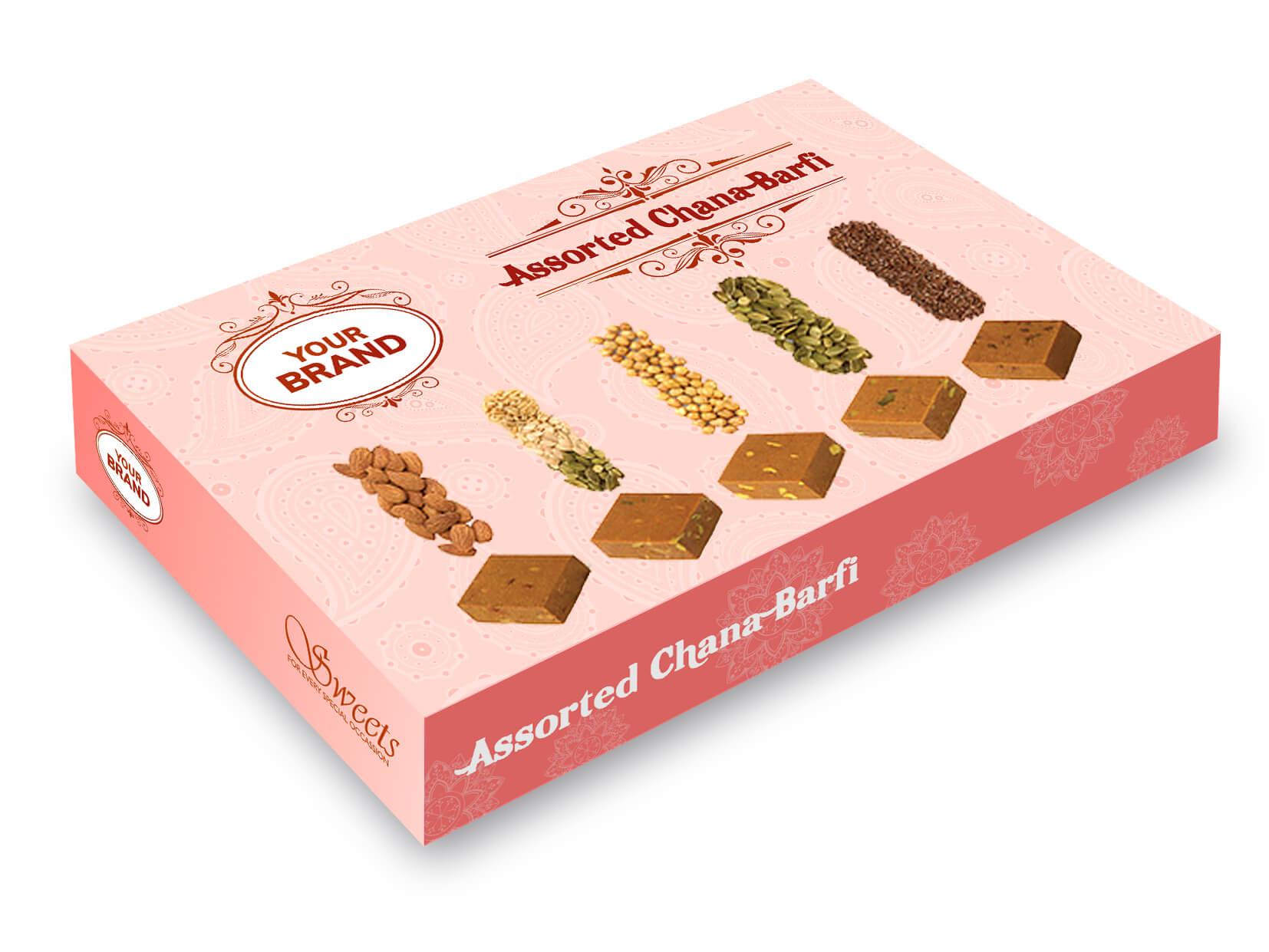 Assorted Chana Barfi Box - Your Brand