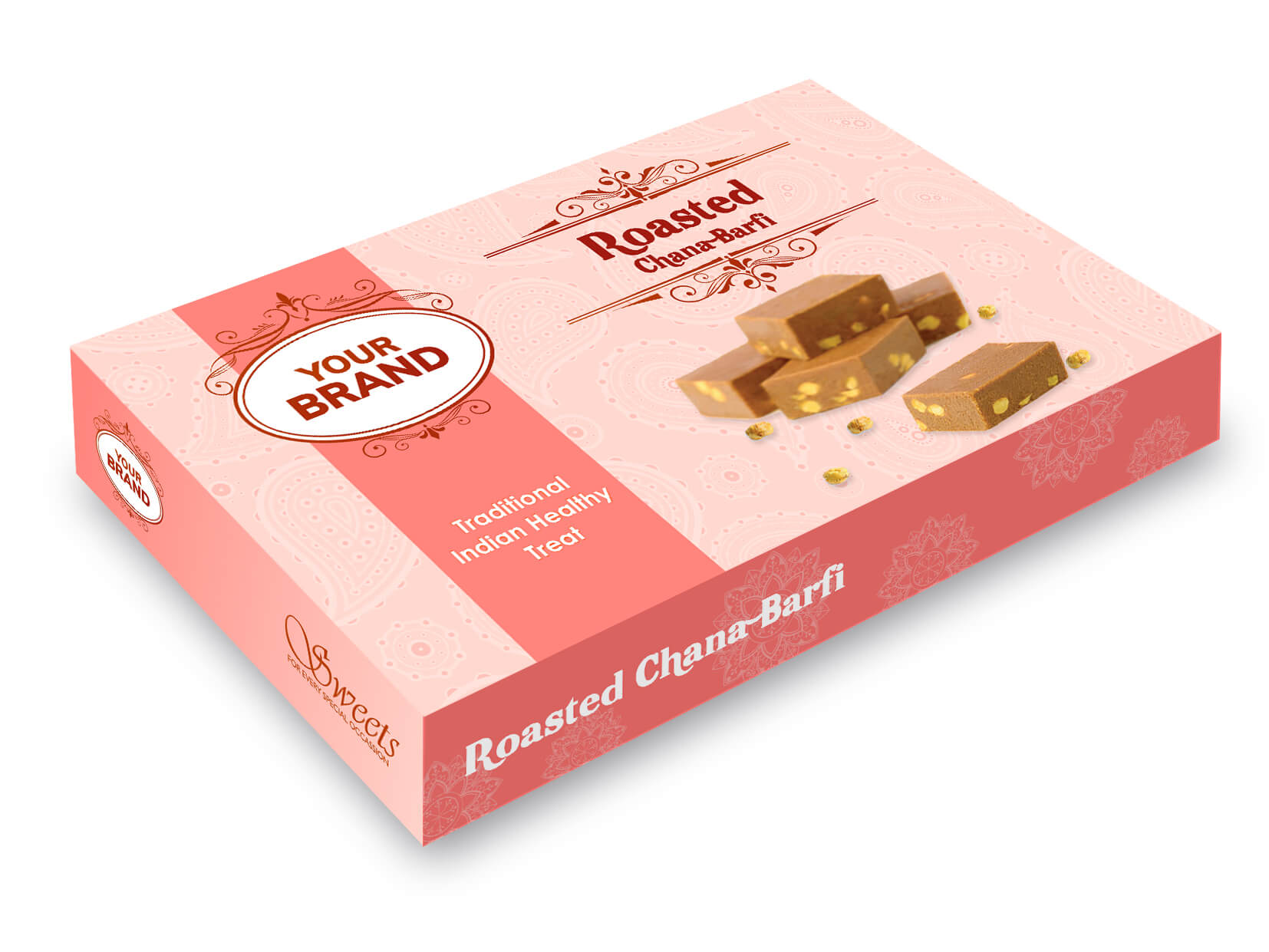 Roasted Chana Barfi Box - Your Brand